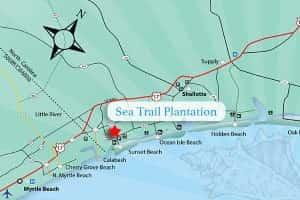Sea Trail Plantation Map