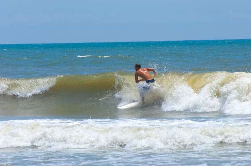 Surfing in Sunset Beach North Carolina